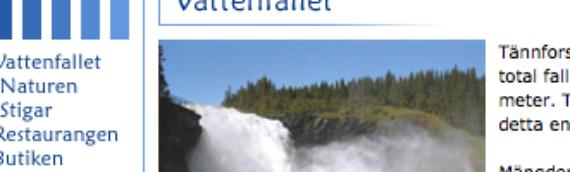 De Tännforsen Waterval
